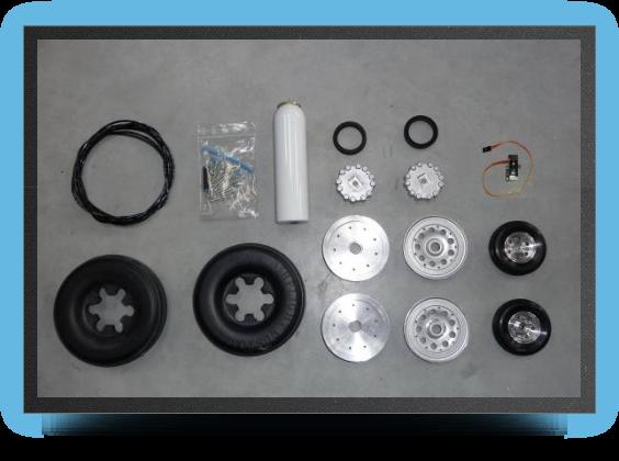 Jets - Wheels set + brakes + electro valve - Wheels set + brakes + electro valve - Aviation Design
