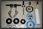 ADJ 340E - Deluxe landing gear spring down + 2 electro valves for gear and brake