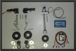 ADJ 340EL - Deluxe electric landing gear + oleo legs + wheels  + electric brakes
