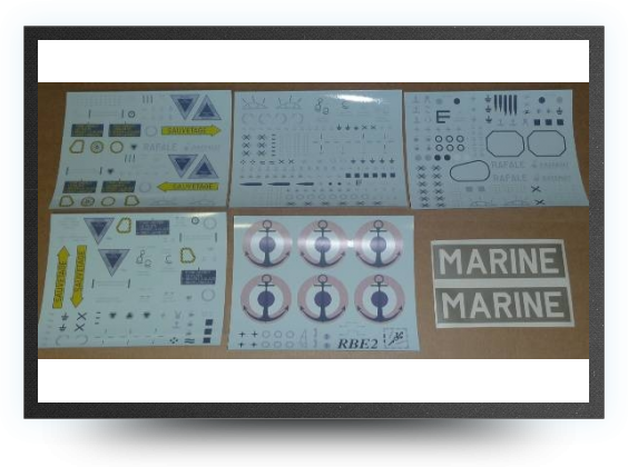 Jets - Decals low visibility for french navy version - Decals low visibility for french navy version - Aviation Design