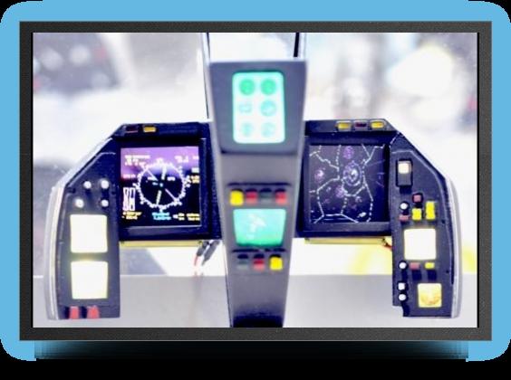 Jets - LCD lightning cockpit instrument panel - LCD lightning cockpit instrument panel - Aviation Design