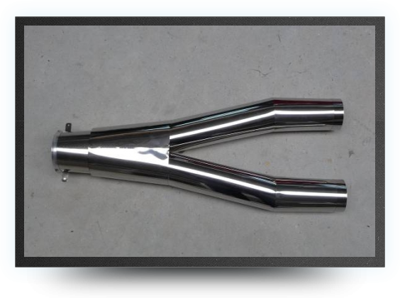 Jets - Stainless steel tailpipe (single turbine, twin exhaust) - Stainless steel tailpipe (single turbine, twin exhaust) - Aviation Design
