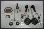 ADJ 251EL - Deluxe electric landing gear + 3 oleo legs + 4 wheels + brakes