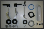 ADJ 580-2 - Deluxe landing gear 2 ways + oleo legs + wheels (all CNC)