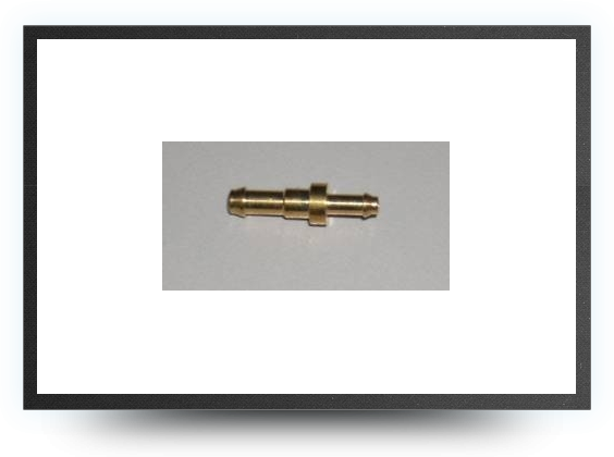 Jets - Brass restrictor connector for tubing 4 mm x 3 mm to 3 mm x 2 mm - Brass restrictor connector for tubing 4 mm x 3 mm to 3 mm x 2 mm - Aviation Design