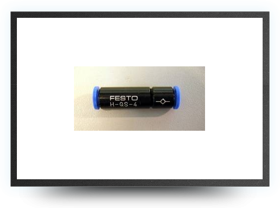 Jets - Non-return valve for Festo tubing 4 mm x 3 mm - Non-return valve for Festo tubing 4 mm x 3 mm - Aviation Design