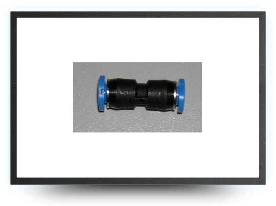 Jets - Push-in restrictor connector for tubing 6mm x 4mm to 4mm x 3mm - Push-in restrictor connector for tubing 6mm x 4mm to 4mm x 3mm - Aviation Design