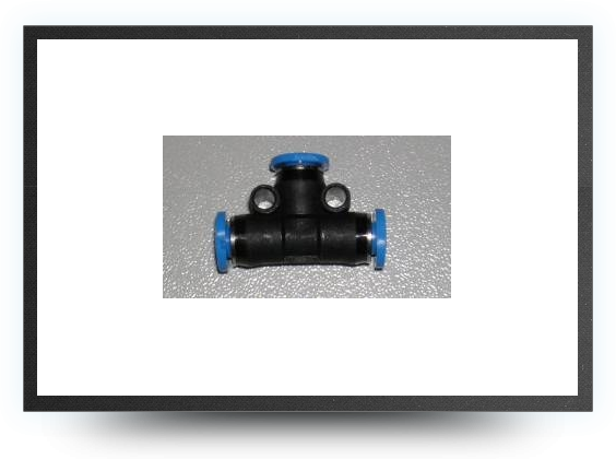 Jets - T push-in connector for festo tubing 4mm x 3mm - T push-in connector for festo tubing 4mm x 3mm - Aviation Design