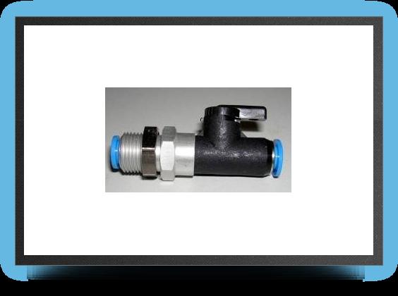 Jets - Shut off valve bulkhead for 4mm x 6mm tubing + nut - Shut off valve bulkhead for 4mm x 6mm tubing + nut - Aviation Design