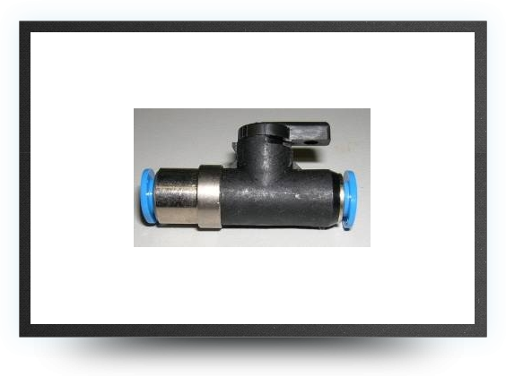 Jets - Shut off valve for 4 mm x 6 mm tubing - Shut off valve for 4 mm x 6 mm tubing - Aviation Design