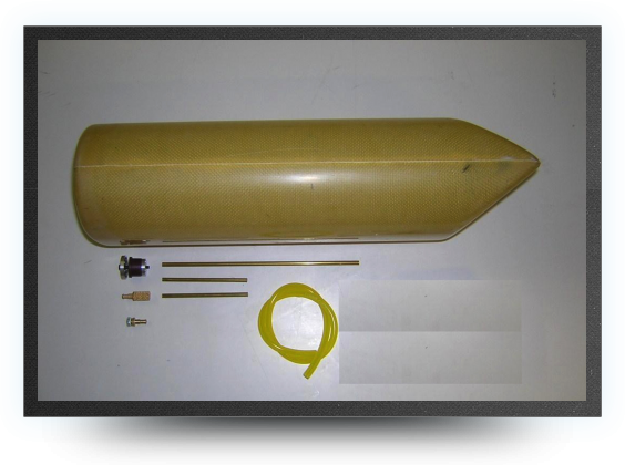 Jets - 3.2 liters kevlar fuel tank (no hardware) 120x100mm long 370mm - 3.2 liters kevlar fuel tank (no hardware) 120x100mm long 370mm - Aviation Design