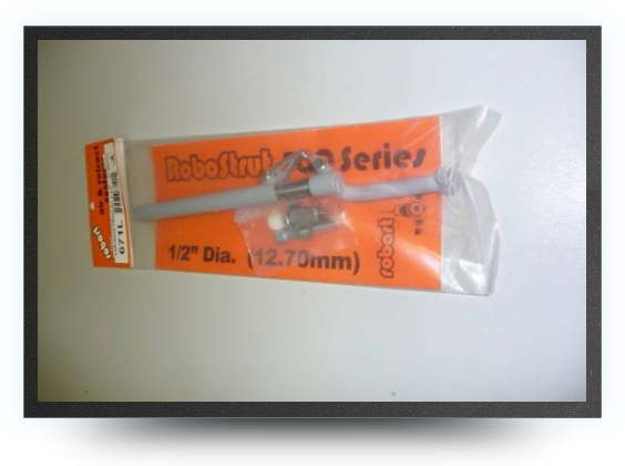 Jets - Spring loaded functional oleo strut left offset length : 233mm diameter : 12.7mm for 89 to 102mm wheel - Spring loaded functional oleo strut left offset length : 233mm diameter : 12.7mm for 89 to 102mm wheel - Aviation Design