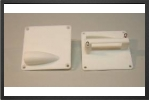 ACC 7804 : 2 x Plastic 50x50 mm Servo Supports For Mini Size Servo - Jets radio-commandés - Aviation Design