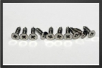 ACC 382210 : 10 x Countersunk Head Tapping Screws 2.2 mm x 9.5 mm - Jets radio-commandés - Aviation Design