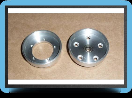 Jets - 1 aluminium main wheel hub - 1 aluminium main wheel hub - Aviation Design