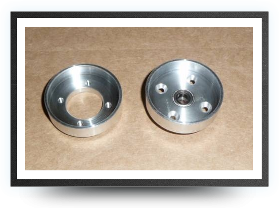Jets - 1 aluminium main wheel hub - 1 aluminium main wheel hub - Aviation Design