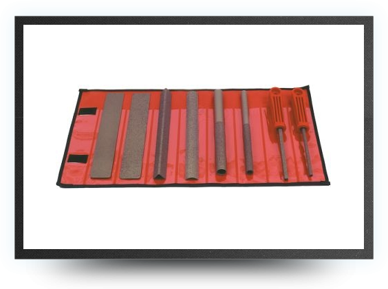 Jets - Selection of 8 hands tools in a velcro fastening tool roll<br />coarse - Selection of 8 hands tools in a velcro fastening tool roll<br />coarse - Aviation Design