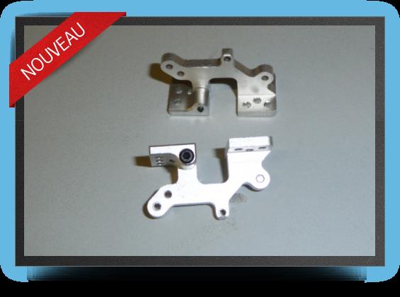 Jets - CharniÈres dÉcalÉes en aluminium pour trappe (2 piÈces) - CharniÈres dÉcalÉes en aluminium pour trappe (2 piÈces) - Aviation Design