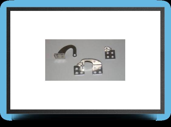 Jets - CharniÈres dÉcalÉes en aluminium pour trappe grand modÈle (2 piÈces) - CharniÈres dÉcalÉes en aluminium pour trappe grand modÈle (2 piÈces) - Aviation Design