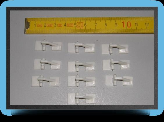 Jets - 10 mini charnières de trappes montées - 10 mini charnières de trappes montées - Aviation Design