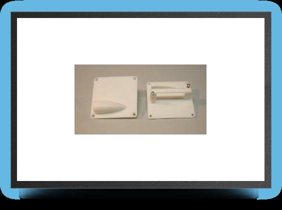 Jets - 2 x supports servo plastique 50x50 mm pour servo taille mini - 2 x supports servo plastique 50x50 mm pour servo taille mini - Aviation Design