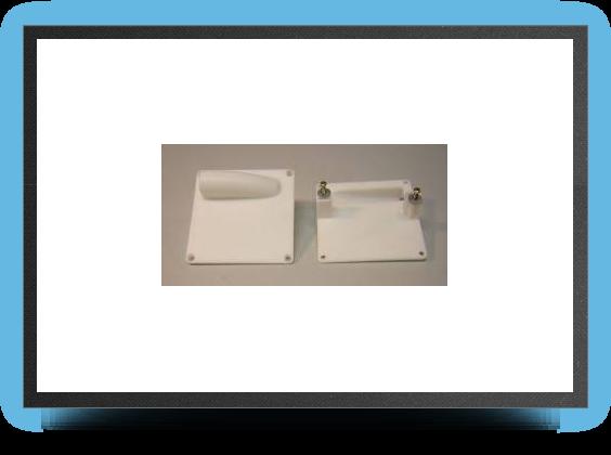 Jets - 2 x supports servo plastique 60x60 mm pour servo taille standard - 2 x supports servo plastique 60x60 mm pour servo taille standard - Aviation Design