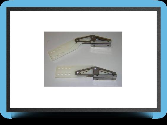 Jets - 4 x charniÈres type fowler robart pour volet - 4 x charniÈres type fowler robart pour volet - Aviation Design