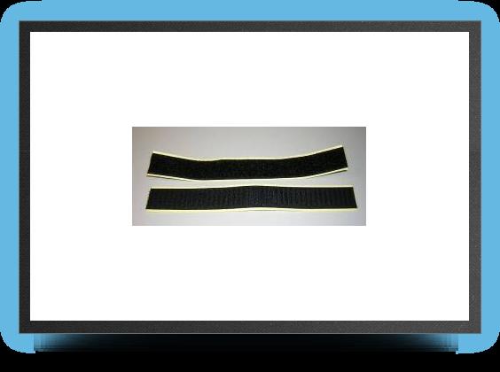 Jets - 2 x Velcros de fixation autocollant, 200 mm x 25 mm - 2 x Velcros de fixation autocollant, 200 mm x 25 mm - Aviation Design