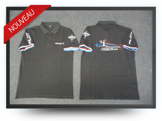 Jets - Polo aviation design diamond taille : xl - Polo aviation design diamond taille : xl - Aviation Design