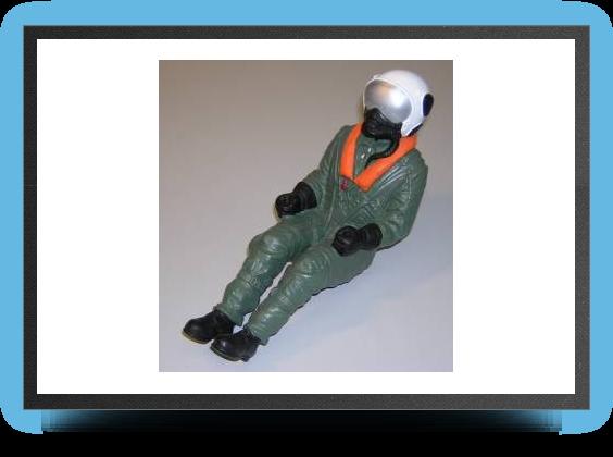 Jets - Pilote de jet au 1/6 semi peint - Pilote de jet au 1/6 semi peint - Aviation Design