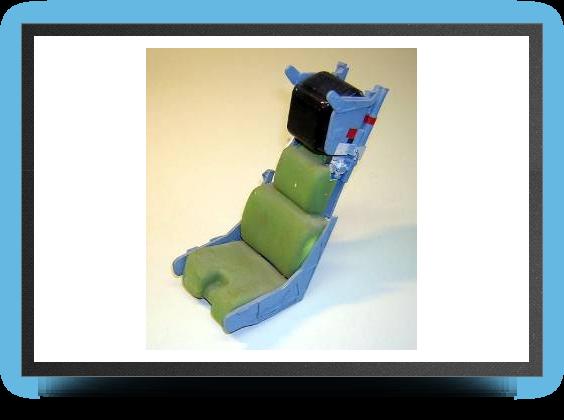 Jets - Kit siège éjectable Martin Baker MK10 au 1/6,8 non peint, 180mm x 90mm x 80mm - Kit siège éjectable Martin Baker MK10 au 1/6,8 non peint, 180mm x 90mm x 80mm - Aviation Design