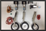 ADJ 160EL - Train rentrant electrique + jambes suspendues + roues + freins