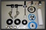 ADJ 340E-2 - Train rentrant complet double effet + 2 Électro valves pour trains et freins