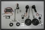 ADJ 251EL - Train rentrant electrique + 3 jambes + 4 roues + freins