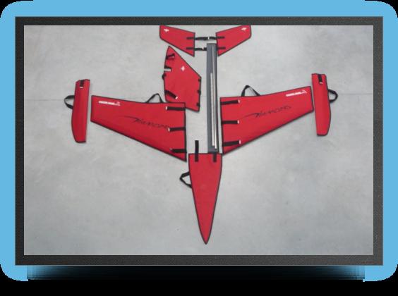 Jets - Housse de protection voilures, stabs et dÉrive en tissu - Housse de protection voilures, stabs et dÉrive en tissu - Aviation Design