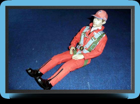 Jets - Pilote maquette super dÉtaillÉ, combinaison rouge - Pilote maquette super dÉtaillÉ, combinaison rouge - Aviation Design