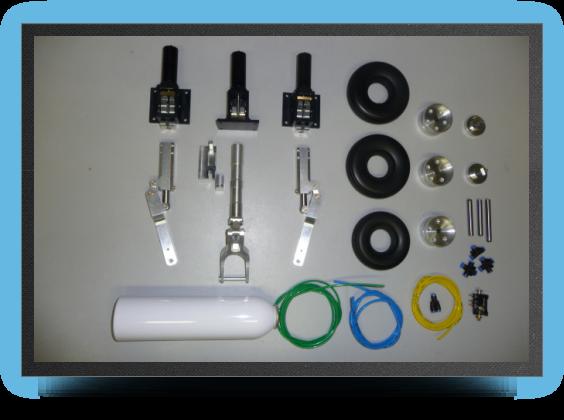 Jets - Train rentrant complet + 2 Électro valves pour trains et freins - Train rentrant complet + 2 Électro valves pour trains et freins - Aviation Design
