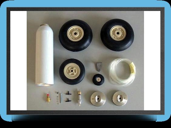 Jets - Roues + système de freins avec valve mécanique - Roues + système de freins avec valve mécanique - Aviation Design