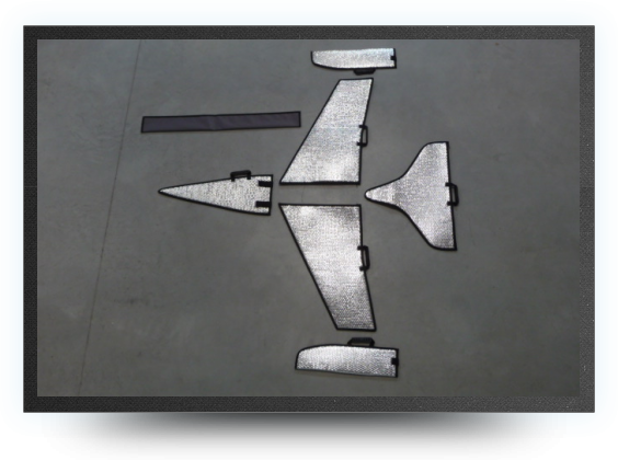 Jets - Housse de protection voilures, stabs et nez en aluminium - Housse de protection voilures, stabs et nez en aluminium - Aviation Design