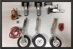 ADJ 160EL : Train Rentrant Electrique + Jambes Suspendues + Roues + Freins - Jets radio-commandés - Aviation Design