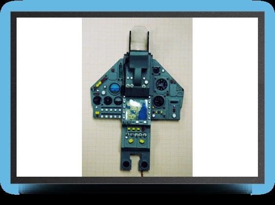 Jets - Tableau de bord éclairant LCD - Tableau de bord éclairant LCD - Aviation Design