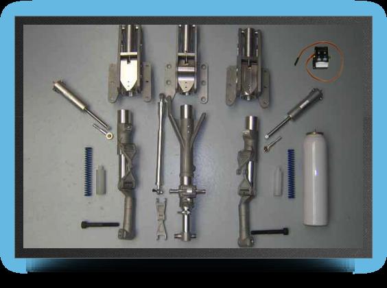 Jets - Train rentrant maquette complet avec Électro valve - Train rentrant maquette complet avec Électro valve - Aviation Design