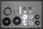 ADJ 703 - Roues + système de freins avec valve mécanique