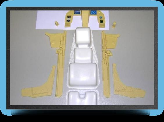 Jets - Kit intérieur cockpit monoplace - Kit intérieur cockpit monoplace - Aviation Design