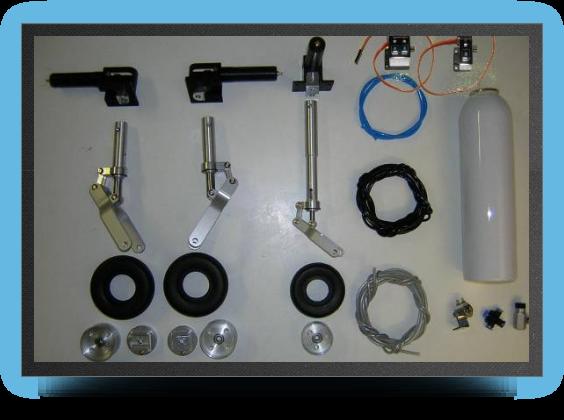 Jets - Train rentrant complet double effet + 2 Électro valves pour trains et freins - Train rentrant complet double effet + 2 Électro valves pour trains et freins - Aviation Design