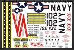 ADJ 576 : Planche Autocollants Navy - Jets radio-commandés - Aviation Design