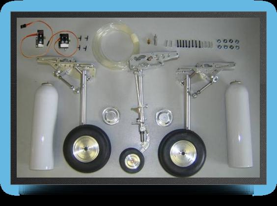 Jets - Train rentrant maquette + roues + freins avec 2 Électro valves - Train rentrant maquette + roues + freins avec 2 Électro valves - Aviation Design
