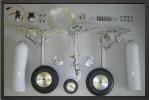 ADJ 294E - Train rentrant maquette + roues + freins avec 2 Électro valves