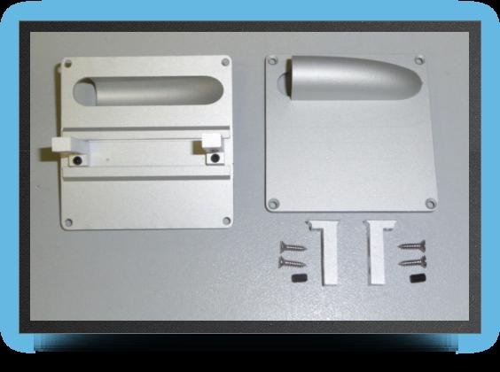Jets - 6 x supports servo aluminium pour servo taille standard - 6 x supports servo aluminium pour servo taille standard - Aviation Design