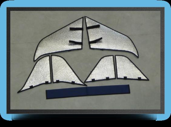 Jets - Housse de protection voilures, stabs et dÉrives - Housse de protection voilures, stabs et dÉrives - Aviation Design